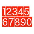 【送料無料】スプレーシート レール型 HS-100RN 数字 文字高100mm ハイビスカス
