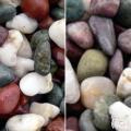 ヤマト和風本玉石 天然五色石 20kg