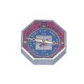 【送料無料】ポケットコンパス 八角風水レッド No.8002SL  55×55×13mm [測量][測定機器][温度計][測定器][方位計][コンパス]