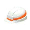 【送料無料】IZANO MET ホワイト/オレンジライン IZANO-WO DICプラスチック [保護保安用材][ヘルメット][保護メガネ]