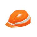 【送料無料】IZANO MET オレンジ/ホワイトライン IZANO-OW DICプラスチック [保護保安用材][ヘルメット][保護メガネ]