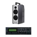 【送料無料】防滴形ハイパワーワイヤレスアンプ WA-7シリーズ SD・USB再生録音付 WA-372+SDU201 ユニペックス