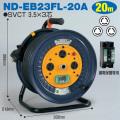 【送料無料】電工ドラム ロック(引掛)式ドラム(屋内型) ND-EB23FL-20A 20m アース付 日動工業 [作業工具][産業機械][電工ドラム][コードリール][標準型ドラム]