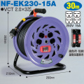 【送料無料】電工ドラム 単相200V一般型ドラム(屋内型) NF-EK230-15A 30m(15A) アース付 日動工業 [作業工具][産業機械][電工ドラム][コードリール][単相200V電工ドラム]