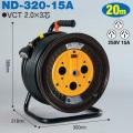 【送料無料】電工ドラム 三相200V一般型ドラム(屋内型) ND-320-15A 20m(15A・20A) アース無 日動工業 [作業工具][産業機械][電工ドラム][コードリール][三相200V電工ドラム]
