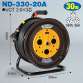 【送料無料】電工ドラム 三相200V一般型ドラム(屋内型) ND-330-20A 30m(15A・20A) アース無 日動工業 [作業工具][産業機械][電工ドラム][コードリール][三相200V電工ドラム]