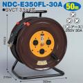 【送料無料】電工ドラム 三相200Vロック(引掛)式ドラム(屋内型) NDC-E350L-20A 50m(20A・30A) アース付 日動工業 [作業工具][産業機械][電工ドラム][コードリール][三相200V電工ドラム]