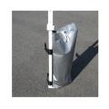 かんたんウエイト10kg 支柱4本モデル WB10-4W2 来夢 [仮設用材][パイプ倉庫][テントオプション]
