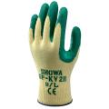 【送料無料】耐切創性背抜き手袋 GP-KV2R(EU ケブラーNBRグリップ) (120双入) ショウワグローブ [保護保安用材][保護手袋][作業用手袋][安全対策手袋]