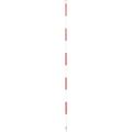 【送料無料】精密ピンポール 1m φ9mm(赤白) 二段石突付 WSP-100IS 大平産業