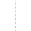 【送料無料】精密ピンポール 1.5m φ9mm(赤白) 円錐石突付 WSP-150P1 大平産業