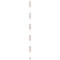 【送料無料】精密ピンポール 1m φ9mm(赤白) 円錐石突付 WSP-100P1 大平産業