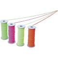 【送料無料】のびた(蛍光色カラーゴム糸) 緑 φ3mm×30m NBIG 大平産業