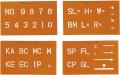 【送料無料】トップマ-キング 4枚組 (数字/記号3種)  TOP-45 大平産業