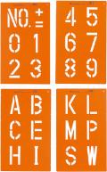 【送料無料】トップマーキング 4枚組 (数字/記号2種)  TOP-100 大平産業