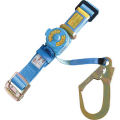 【送料無料】安全帯(一本吊り用) 大口径フック・平ロープ巻取リ式 No.RU-101