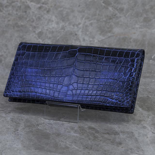 無双長財布(切り目)ミッドナイトブルー[HI1501M]