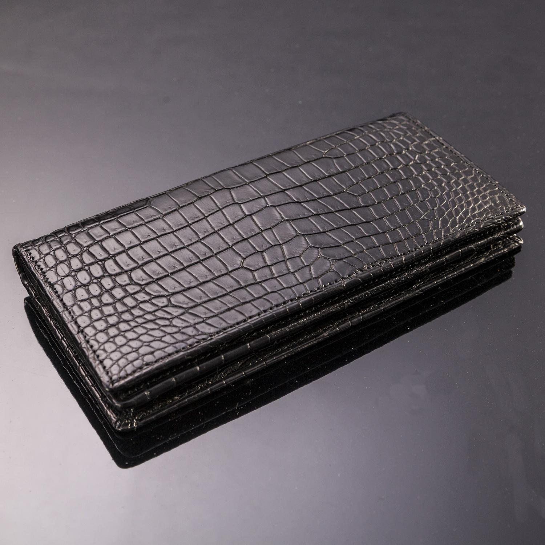 クロコダイルロングウォレット10枚カード(無双)[M0702M]