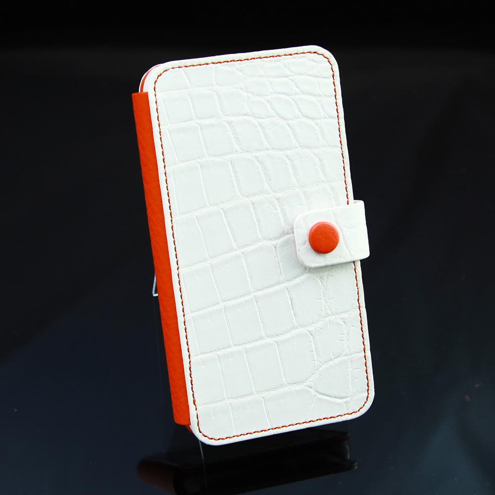 クロコダイル手帳型ハンドソーンスマホケース[M2001]