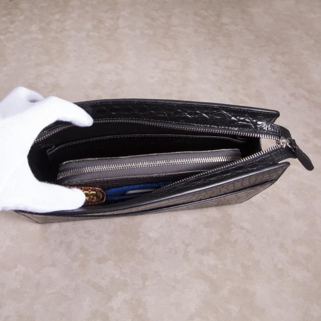 クロコダイルシンプルセカンドバッグ[0615KA07]