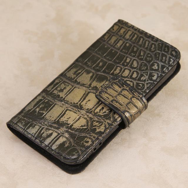 クロコダイル 手帳型 iPhoneケース[0714KA01]