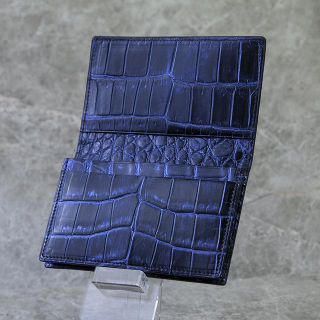 無双名刺入れ(切り目)シングルマチ仕様ミッドナイトブルー[HI1507M]