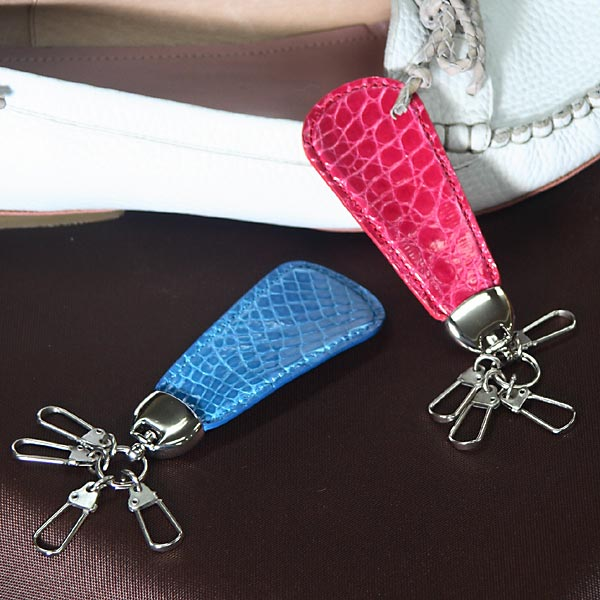 クロコダイル靴べら型キーリング[K-005]