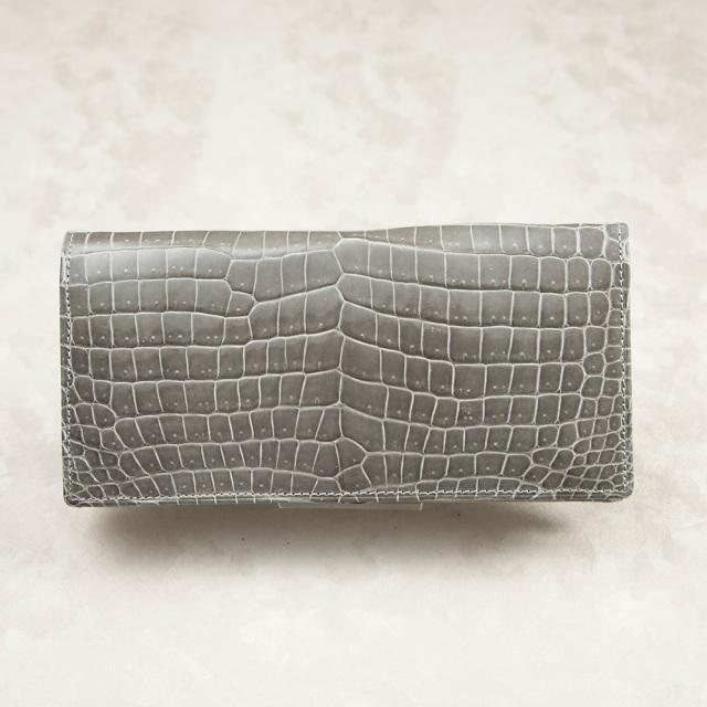 クロコダイルロングウォレット8枚カード(無双)[M0703M]