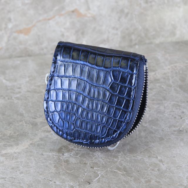 クロコダイル馬蹄形コインケースファスナー 特別カラー[M0704F]