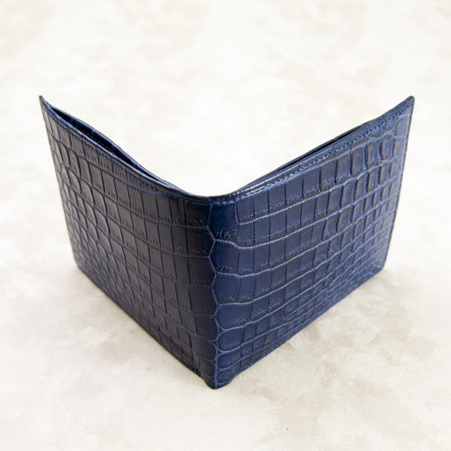 クロコダイル2つ折りウォレット(無双)[M0801M]