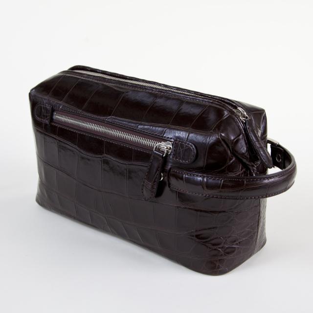 復刻モデル 口金式クロコダイルセカンドバッグ[M0910]