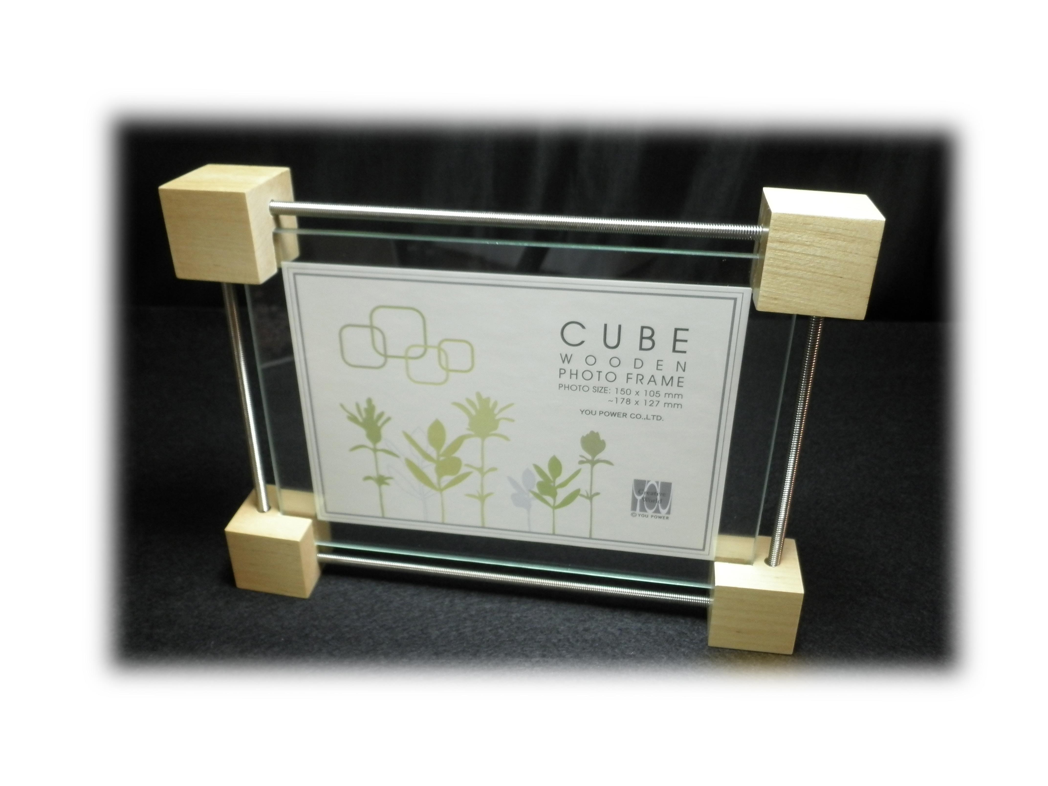 木製キューブクリップフォトフレーム