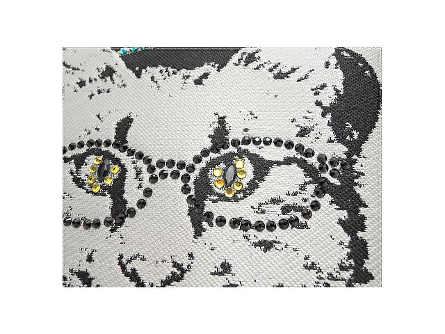 【SOAR SOLe】レディース◇スワロフスキーをあしらった猫♪ジャガード織りトートバッグ再値下げ(^^♪50%OFF