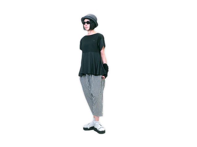 【Vivienne Westwood RED LABEL】レディース 02(M~L)サイズ☆半袖Aライン切替カットソー☆大人可愛いシルエット☆20%off