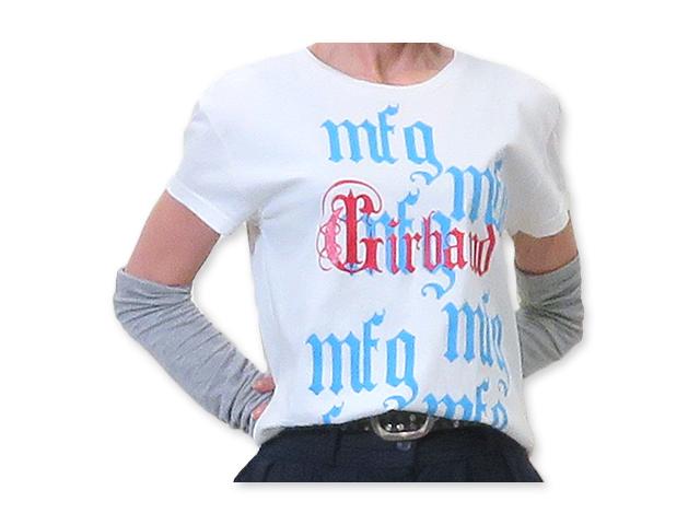【ジルボー】レディース ◆Lサイズ◆USAから届いたゆったりオフホワイトTシャツ☆彡独特な重ねプリント♪40%OFF