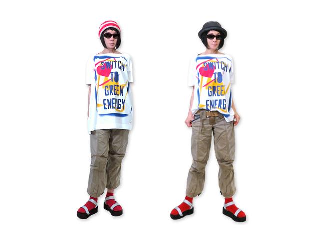 【Vivienne Westwood RED LABEL】レディ-ス◇02(ONE)サイズ☆白/黒ビッグシルエットプリントTシャツ☆☆彡20%OFF