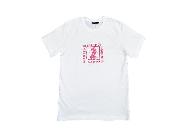 【ジルボー】レディース&メンズ◇S、Mサイズ☆タツノオトシゴTシャツダークピンクプリント再入荷☆彡