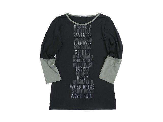 【ジルボー】レディース◇48(M~L)サイズ☆フランス製ジルボーの八分袖切替カットソー☆上品素材にコーティングプリント☆彡40%OFF