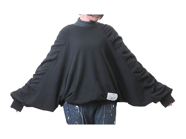 【Y-3】レディ-ス◇S(S~L)サイズ☆ブラック ゴムシャーリングカットソー ドルマンスリーブ☆モードライン☆彡30%OFF