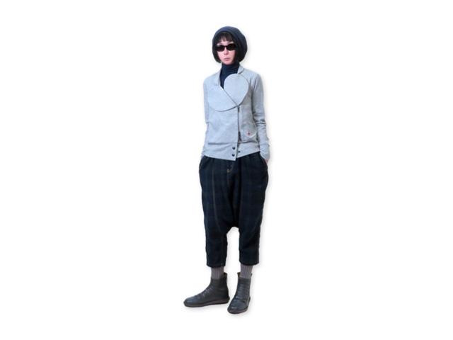 【Vivienne Westwood RED LABEL】レディース 02(M)サイズ☆オールシーズン使えるスウエットブルゾン☆襟のデザインを色々変化☆Wジップで着方を楽しむ☆彡20%OFF