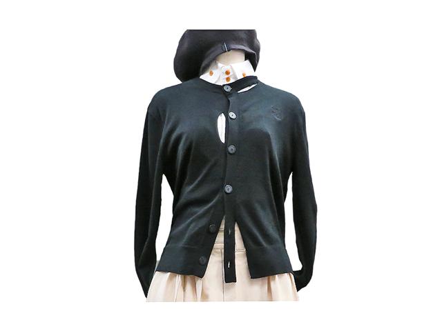 【Vivienne Westwood Anglomania】レディース 40(M~L)サイズ☆襟や胸元のカットオフが効くアシンメトリ ブラックカーデ☆20%off☆彡