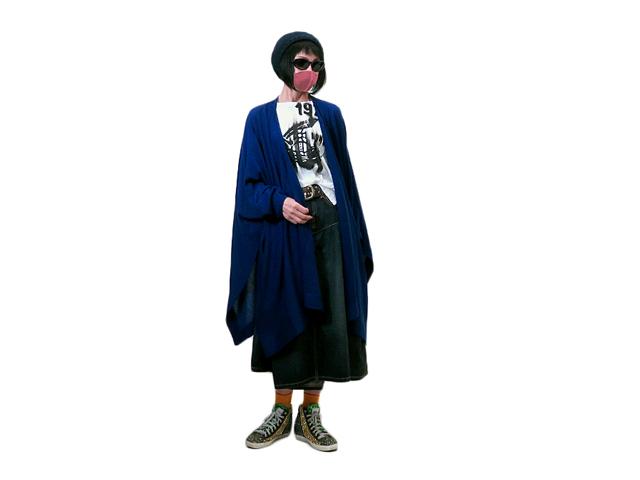 【Vivienne Westwood RED LABEL】レディース 02(FREE)サイズ☆ダークブルーとブラック☆ポンチョカーデを一枚羽織る☆彡11%OFF