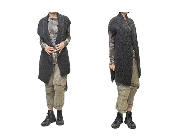 【HIGH】レディ-ス◇SサイズですがS~Mサイズの大きさで着れるモールノースリーブカーデ☆彡40%OFF