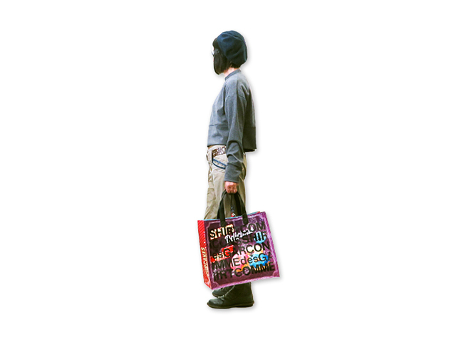 【COMME des GARCONS SHIRT】レディース&メンズ◇ONEサイズ☆プリントショッピングバッグ ギャルソンらしいアート感溢れるバイカラープリントが登場☆彡