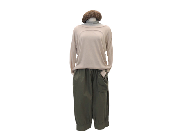 【ジルボー】レディース◇Sサイズ☆着やすさが決め手のゆったり薄手サマーニット♪ピンクベージュ 50%OFF