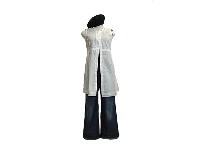【ジルボー】レディース◇Mサイズ☆ゆる~いシルエットを軽~く羽織るチュニックシャツ!!!50%OFF