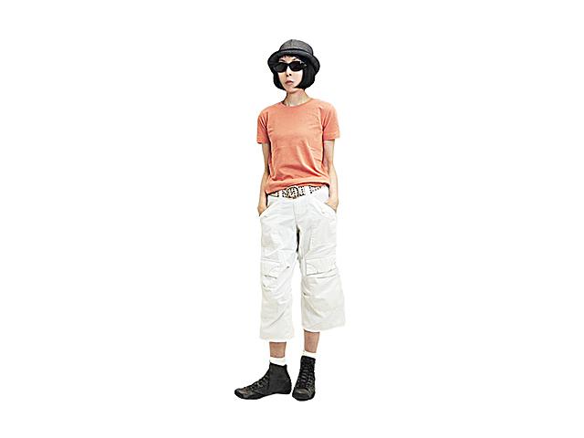 【ジルボー】メンズ&レディース◇メンズSSサイズ☆男女関係なしの八分丈ワイド膝上ポケットパンツ☆彡70%OFF