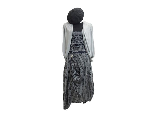 【HIGH】レディース◇38、40サイズ☆ストライプアシンメトリースカート どの位置でも綺麗です☆彡47%OFF♪