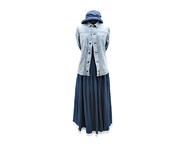 "【FADselect】レディース◇激安""MUST BUY"" 期間限定◇M~Lサイズ☆裏地付コットンの優しさにストライプ、裾の白テープがポイントのスカートが70%OFF☆彡"