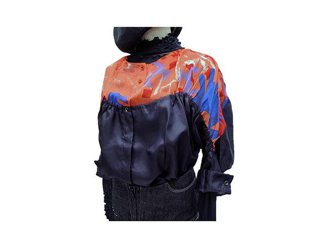 【ジルボーレディス】S/M(M~L)サイズ ◇上品でお洒落な七分袖ゆる系Aラインシルクブラウス☆80%OFF4,830円